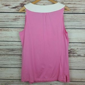 Lilly Pulitzer Tops - Lilly Pulitzer XL Pink/White Sleeveless Top